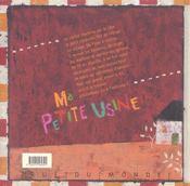 Ma Petite Usine - 4ème de couverture - Format classique