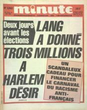 Minute N°1262 du 13/06/1986 - Couverture - Format classique