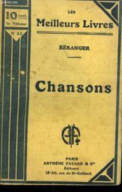 Chansons Tome 1. Collection : Les Meilleurs Livres N° 33. - Couverture - Format classique