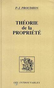 Theorie De La Propriete - Intérieur - Format classique