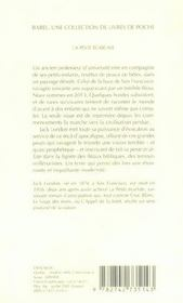 La Peste Ecarlate (Edition 2006) - 4ème de couverture - Format classique