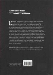 Realisme Et Vision Sociale Chez Courbet Et Proudhon - 4ème de couverture - Format classique