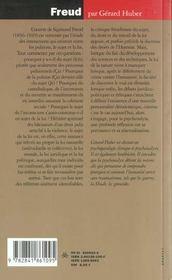 Freud ; Le Sujet De La Loi - 4ème de couverture - Format classique