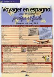 Petit Guide T.133 ; Voyager En Espagnol - Intérieur - Format classique