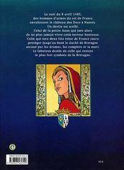 Anne de Bretagne - 4ème de couverture - Format classique