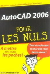 Vente livre :  Autocad 2006  - Mark Middlebrook