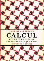 Calcul Ce (Auriol Et Seguier) - Intérieur - Format classique