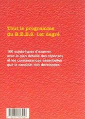 Reussir Le Bees T1 : 100 Sujets D'Examen Resolus - 4ème de couverture - Format classique