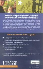 Stagiaires sans frontières ; le guide du stage en solidarité internationale (2e édition) - 4ème de couverture - Format classique