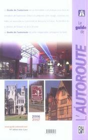 *Guide De L Autoroute 2006/2007 - 4ème de couverture - Format classique