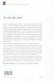 Vie Du Reve (La) - 4ème de couverture - Format classique