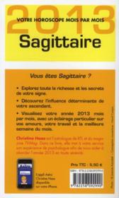 Sagittaire 2013 - 4ème de couverture - Format classique