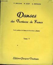 Danses Des Provinces De France - Tome 5 - Couverture - Format classique