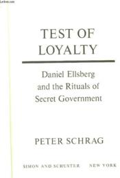 Test Of Loyalty - Couverture - Format classique
