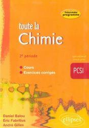 TOUTE LA CHIMIE ; 2e periode - Intérieur - Format classique