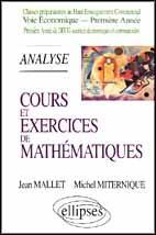 Tome 2 Analyse Cours Et Exercices De Mathematiques Hec Voie Economique 1re Annee - Couverture - Format classique