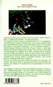 Parties de campagne ; récits et croquis de voyage en Val d'Oise - 4ème de couverture - Format classique