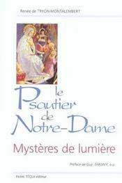 Le Psautier De Notre Dame - Mysteres De Lumiere - Intérieur - Format classique