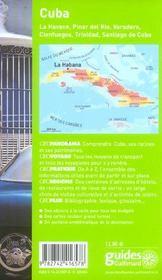 Geoguide ; Cuba (Edition 2006) - 4ème de couverture - Format classique
