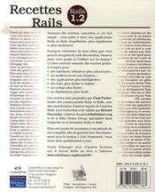Recettes rails 1.2 - 4ème de couverture - Format classique