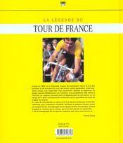 Legende Du Tour De France (La) - 4ème de couverture - Format classique