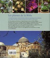 Les plantes de la bible - 4ème de couverture - Format classique
