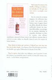 Livre Des Lotions Magiques - 4ème de couverture - Format classique
