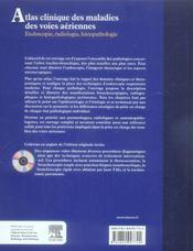 Atlas clinique des maladies des voies aériennes - 4ème de couverture - Format classique