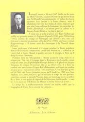 Jacques Decour, L'Oublie Des Lettres Francaise - 4ème de couverture - Format classique