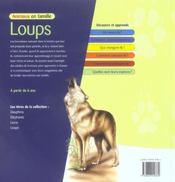 Animaux En Famille ; Loups - 4ème de couverture - Format classique