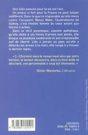La Gestapo M'Appelait La Souris Blanche - 4ème de couverture - Format classique
