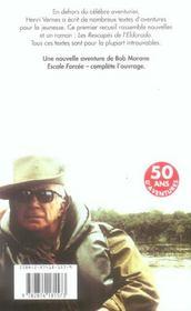 Contes Et Recits D'Aventures T01 Escale Forcee - 4ème de couverture - Format classique