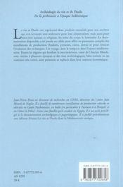 Archeologie Du Vin Et De L'Huile De La Prehistoire A L'Epoque Hellenistique - 4ème de couverture - Format classique