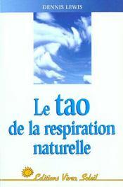 Le tao de la respiration naturelle - Intérieur - Format classique