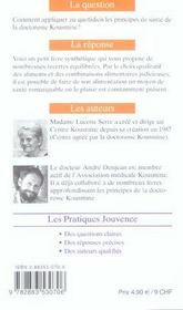 Kousmine Au Quotidien : Des Recettes De Sante N.1 - 4ème de couverture - Format classique