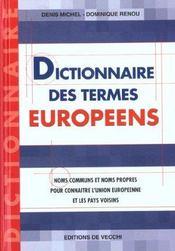 Dictionnaire Des Termes Europeens - Intérieur - Format classique