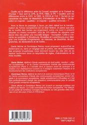 Dictionnaire Des Termes Europeens - 4ème de couverture - Format classique