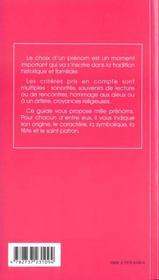 1000 prenoms feminins - 4ème de couverture - Format classique