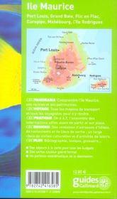 Geoguide ; Ile Maurice (Edition 20069) - 4ème de couverture - Format classique