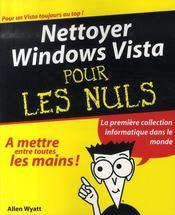 Nettoyer windows vista pour les nuls - Intérieur - Format classique