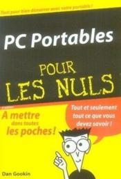 Pc portables poche pour les nuls - Couverture - Format classique
