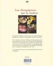 Champignons par la couleur - 4ème de couverture - Format classique
