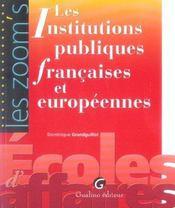 Zoom'S Instit. Publiques Fran. Et Europ. - Intérieur - Format classique