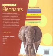 Animaux en famille ; elephants - 4ème de couverture - Format classique