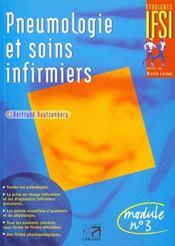 Pneumologie Et Soins Infirmiers 1ere Edition - Intérieur - Format classique