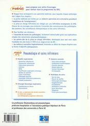 Pneumologie Et Soins Infirmiers 1ere Edition - 4ème de couverture - Format classique