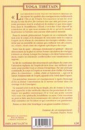 Lu sem yoga ; yoga tibétain de Tsering Nyma - 4ème de couverture - Format classique