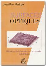 Surfaces optiques - Couverture - Format classique