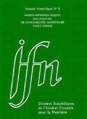 Dossier scientifique t.8 ; abords methodologiques des enquetes de consommation alimentaire - Couverture - Format classique