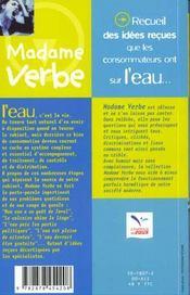 Madame Verbe Et L'Eau - 4ème de couverture - Format classique
